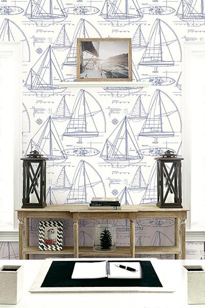 Yc61322 yacht blueprint wallpaper yacht blueprint wallpaper yacht blueprint wallpaper room setting malvernweather Choice Image