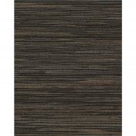 Inked Charcoal & Brown Grasscloth Wallpaper