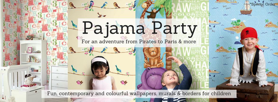 Pajama Party Wallpaper Pattern Book