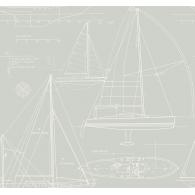 Yacht Blueprint Wallpaper