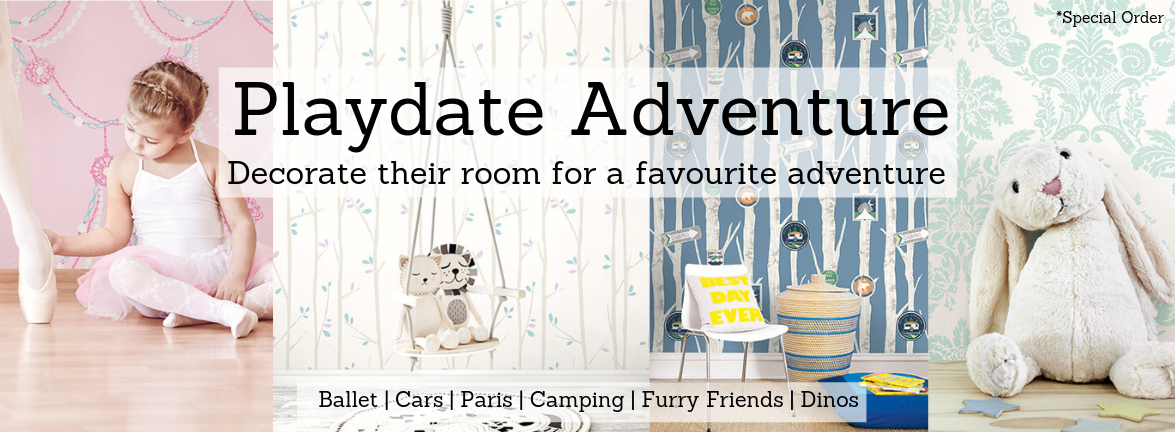 Playdate Adventure Children's and Baby's Wallpapers & Murals Pattern Book