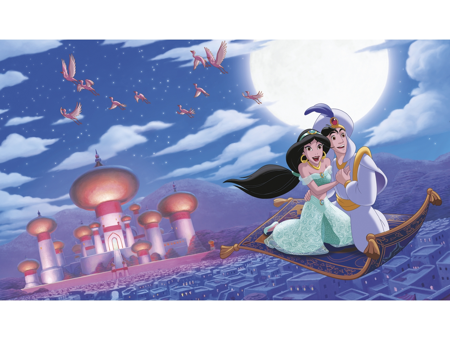 Jl1371m Aladdin A Whole New World Prepasted Xl Mural