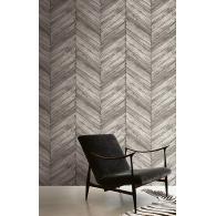 Chevron Wood Wallpaper Room Setting