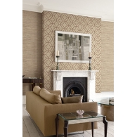 Lattice Grasseffects Wallpaper Room Setting