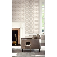 Frame on Grasscloth Grasseffects Wallpaper Room Setting