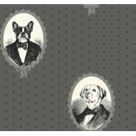 Dog Portrait Cameos Wallpaper