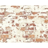 Plastered Brick Wallpaper
