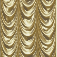Golden Curtain 3D Wallpaper