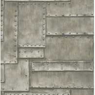 Metal Panel 3D Wallpaper