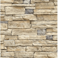 Limestone Wall 3D Wallpaper