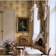 Antique Bouquet Wallpaper Room Setting