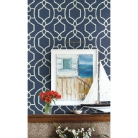 Large Geometric Wallpaper Room Setting
