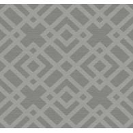 Grasscloth Lattice Wallpaper