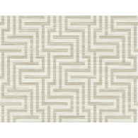 Grasscloth Greek Key Wallpaper