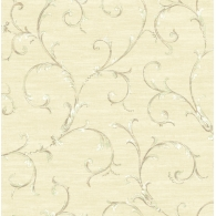 French Tapestry Scroll Wallpaper