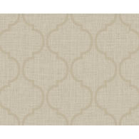Ogee on Basket Weave Textured  Wallpaper