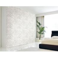 White Brick Wall 3D Wallpaper Room Setting