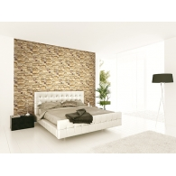 Limestone Wall Wallpaper Room Setting