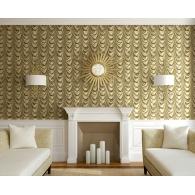 Golden Curtain 3D Wallpaper Room Setting