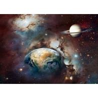 Earth & Planet Outer Space Giant Mural