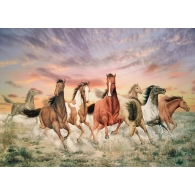 Galloping Horses Giant Mural