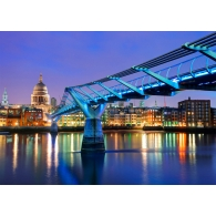 Millennium Bridge London Giant Mural
