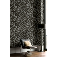 Black Crystals Wallpaper Room Settings
