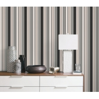 Brown Smart Stripes 2 Wallpaper Room Setting