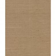 Plain Grasscloth Brown Wallpaper