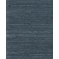 Plain Grasscloth Navy Wallpaper