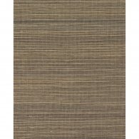 Multi Grasscloth Charcoal & Brown Wallpaper