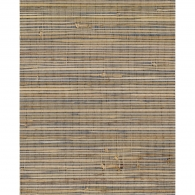 Knotted Navy & Brown Grasscloth Wallpaper
