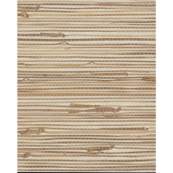 Wide Knotted Silver & Brown Grasscloth Wallpaper