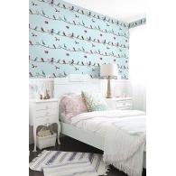 Sweet Tweet Wallpaper Room Setting