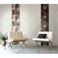 Grand Central Stone Wallpaper with Zebra Panel & Petrified Wood Panel