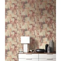 Plaster Faux Wallpaper Room Setting