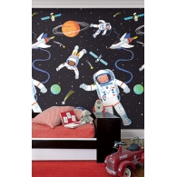 Lost in Space Mural Room Setting