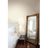 Moroccan Ogee Wallpaper Room Setting