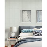 Simple Plaid Wallpaper Room Setting
