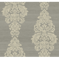 Scroll Damask Patina Wallpaper