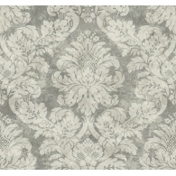 Framed Damask Patina Wallpaper