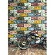 Detroit Licence Plates Destination USA Wallpaper Room Setting