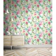 Abstract Floral L'Atelier de Paris Wallpaper Room Setting