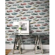 Detroit Cars Destination USA Wallpaper Room Setting