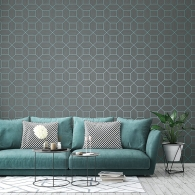 Inlay Fusion Wallpaper Room Setting
