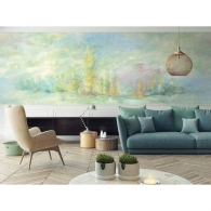 Rolling Hills French Impressionist Mural Room Setting
