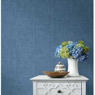 Denim Daisy Bennett Wallpaper Room Setting