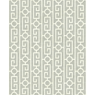 Greek Key Brownstone Wallpaper