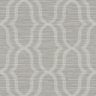 Geometric On Grasscloth on Embosed Foil  Fusion Wallpaper