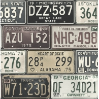Detroit Licence Plates Destination USA Wallpaper
